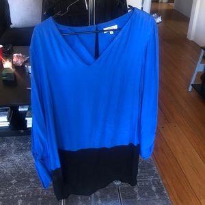 Blue and black papaya blouse/tunic